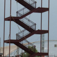 Steel Stairs Dormotories